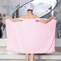똑딱이단추 목욕가운 여성 도톰한 민소매 보들보들 샤워가운