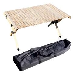 CAMP 느티나무 원목롤테이블 90x60x45.5cm 케이스포함