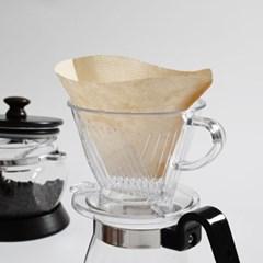 커피 여과지 콘 필터 3-4인 40매_(1746693)