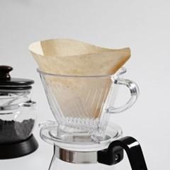 커피 여과지 콘 필터 3-4인 100매_(1746692)