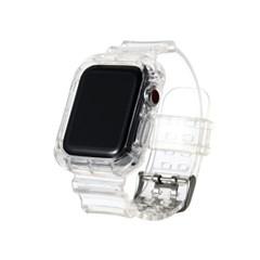 애플워치 투명 스트랩 밴드 줄 se 6 5 4 3 2 1 애플와치 시계 스트랩