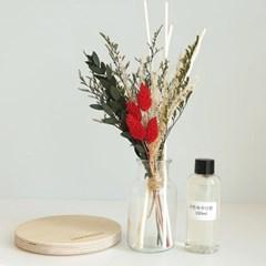 빨간맛 프리저브드 꽃다발 디퓨저+선물 박스 세트
