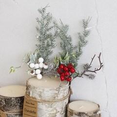 크리스마스 열매 픽 장식 - 2color
