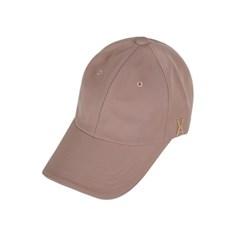 [바잘] 골드 스터드 오버핏 볼캡 핑크