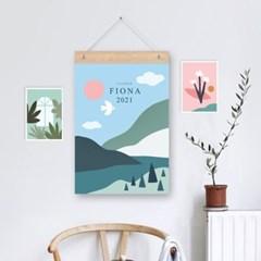 피오나 엽서 6개세트 / 미니 포스터 작품 액자,달력과 데코