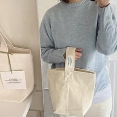winter tote bag_ vanilla cream
