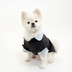 [퍼리굿] 강아지옷 양면 코튼 셔츠 (민트 & 딥그레이)