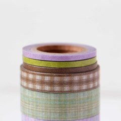 Check Ribbon Masking Tape [Brownie]
