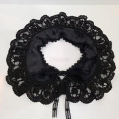 레이스 블랙 아이보리 얇은 케이프 미시 패션 스카프