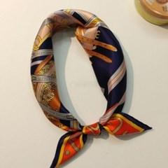 실크 실키 트윌리 가방 네이비 미시 패션 스카프