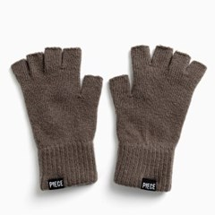 CASHMERE FINGERLESS GLOVES (CHARCOAL)_(401201950)