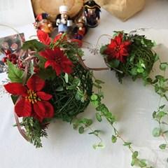 포인세티아 넝쿨 볼 크리스마스 조화 (2type)_(2089459)