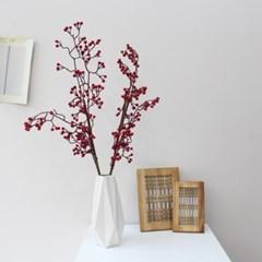 겨울 레드베리열매 조화가지장식
