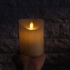 LED 건전지 양초 (높이 : 약 11cm)