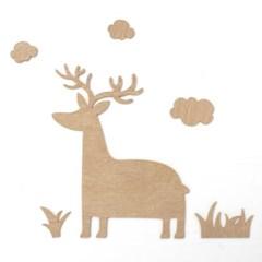 우드아트꾸미기 - 사슴 (W593) 컬러링 색칠놀이