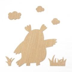 우드아트꾸미기 - 부엉이 (W592) 컬러링 미술놀이