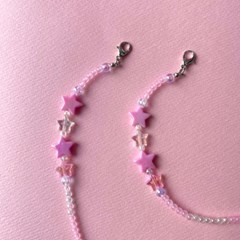반짝반짝 작은별 큰별 비즈 마스크 스트랩 목걸이 마스크줄 PINK