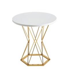 웨스트 심플 원형골드 테이블 2