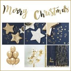 [빛나파티]골드 별 6종 크리스마스 파티패키지 Gold Star Christmas