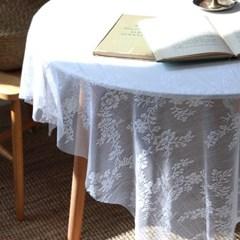화이트 레이스 플라워 테이블보 식탁보