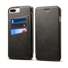 아이폰6 6S 플러스 마일드 스티치 레더플립 케이스