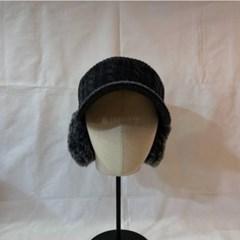 패션 데일리 기본 챙넓은 연예인 니트 귀마개 캡 모자