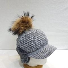 방울캡 데일리 패션 연예인 니트 귀마게 볼캡 모자