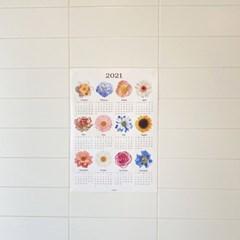 2021 flower canvas calendar (2size)
