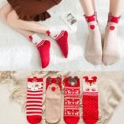 [4켤레세트]클스 여성 겨울 크리스마스 수면양말_(2504321)