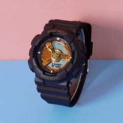 스포츠 디지털 학생 실리콘밴드 손목시계 GNB02-GB