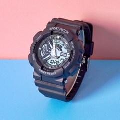 스포츠 디지털 학생 실리콘밴드 손목시계 GNB02-BK