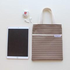 check mini book bag (check)