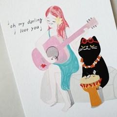 [마을프렌즈] 러브송 엽서