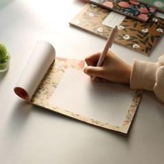 핑크풋 꽃길 패드 편지지(ver2)
