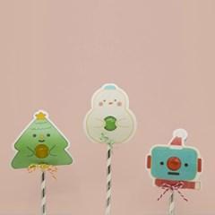이응이 캔디 페이퍼 크리스마스 카드