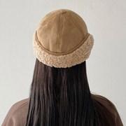 무스탕 양털 귀달이 모자 뽀글이 푸들 챙이 짧은 군밤 방한 모자