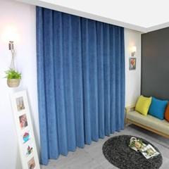 [나산] 세미벨벳 사계절 방한커튼 200x240cm 블루