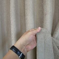 [나산] 세미벨벳 사계절 방한커튼 100x240cm 브라운