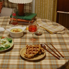 BUTTER-croiffle table mat  메이드파니 크로플 식탁보 테이블보