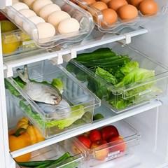 투명 냉장고 정리선반 트레이 레일형 (대) 1개