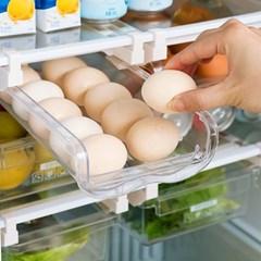 투명 냉장고 자동계란지급기 레일형 2줄 1개