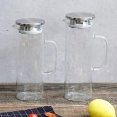 내열유리 냉장고 물병 (중+대) 2개 혼합구성