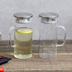내열유리 냉장고 물병 (소) 2개구성 1000ml