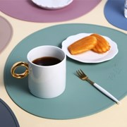 벨류세라믹 조약돌 모양 실리콘 테이블 식탁 매트 (고급형) 6color