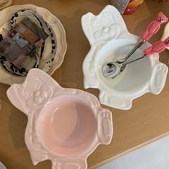 [유니랜드] 토끼 시리얼볼 요거트볼 그릇