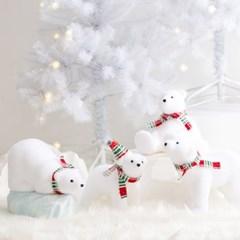 [데코봉봉]아기 북극곰 (체크레드)