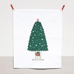 패브릭포스터 SANTA IS COMING 크리스마스 데코 성탄절홈파티