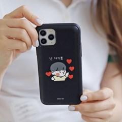 갤럭시S6엣지 뽀시래기 쟈근콩 카드 범퍼케이스