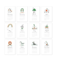 [2021 CALENDAR] Cute Hand Drawn Animals