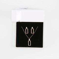 [쥬디앤폴] [Gift set] 글리 스퀘어 크리스탈 로즈골드 세트